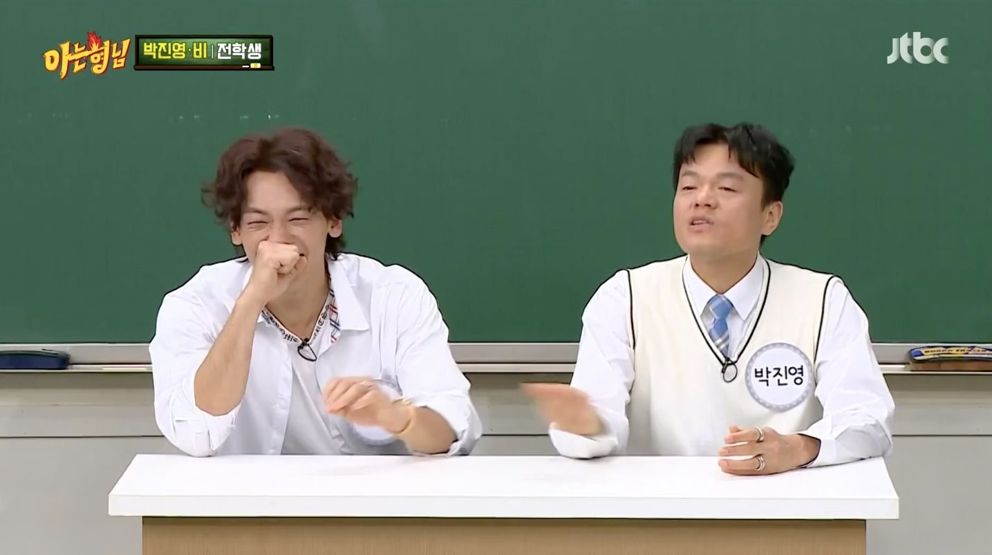 """""""Ask Us Anything"""": Rain and Park Jin Young discuss and compete in a dance battle"""