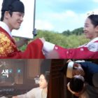 """Watch: Shin Hye Sun and Kim Jung Hyun Get Playful And Affectionate Behind The Scenes Of """"Mr. Queen"""""""