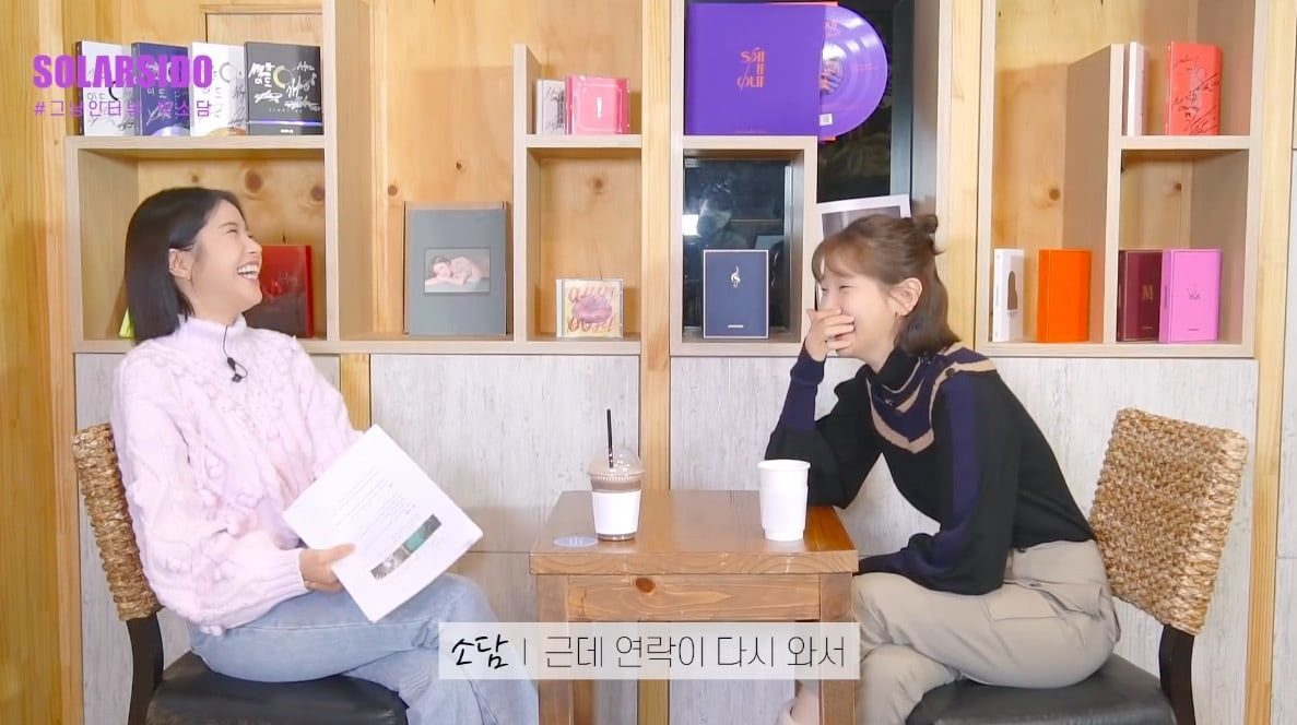 Park So Dam sits down to talk with Solar of MAMAMOO