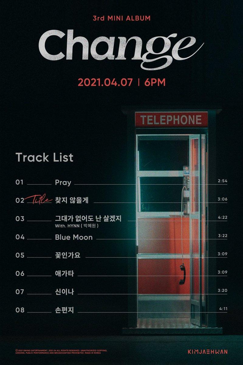 Kim Jae Hwan Track List