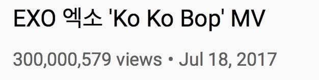 EXO Ko Ko Bop MV Views