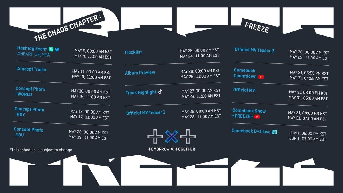 txt promotion schedule