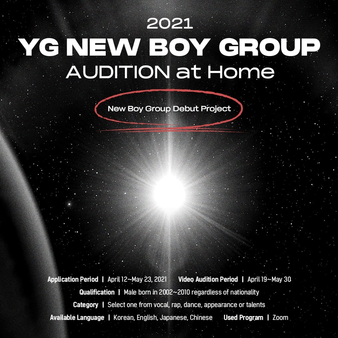 Yg Entertainment Announces Global Auditions For New Boy Group Soompi