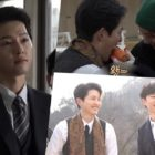 "Watch: Song Joong Ki Gets Sweet And Affectionate With Jeon Yeo Bin And Kim Sung Cheol Behind The Scenes Of ""Vincenzo"""