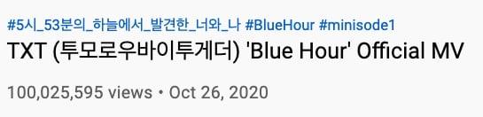 blue hour 100 million