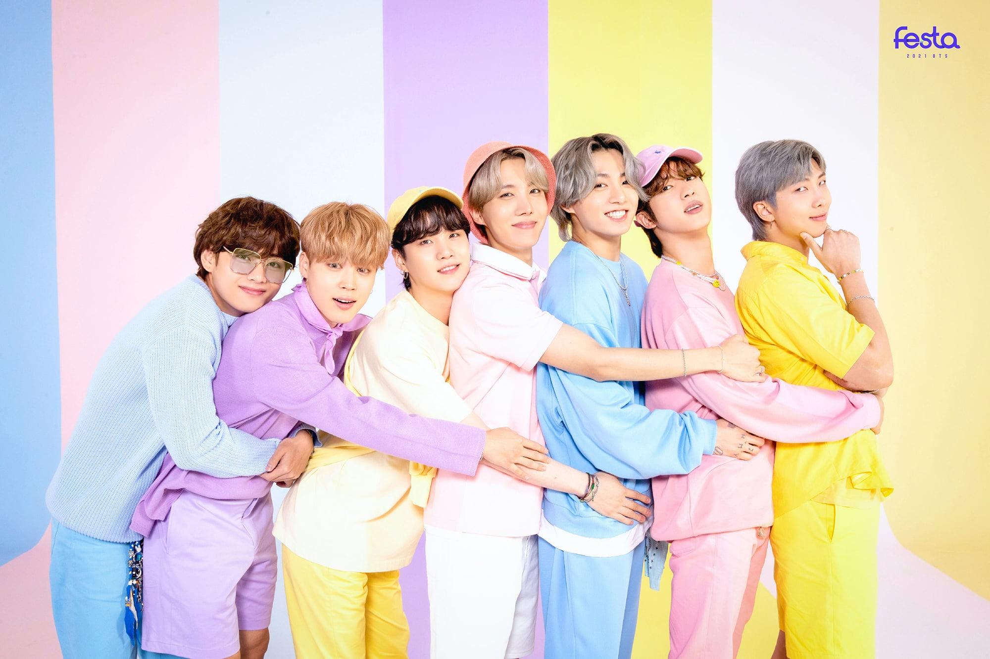 BTS Kicks Off 20 Festa With Adorable Family Portraits   Soompi