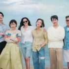 Lee Dong Wook, Lee Ji Ah, SHINee's Onew, And More Pose By The Seaside For Upcoming JTBC Variety Show
