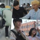 """Watch: Bae In Hyuk, Kang Min Ah, And Park Ji Hoon Are An Inseparable Trio On Set Of """"At A Distance Spring Is Green"""""""