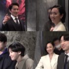 """Watch: Ji Sung, Kim Min Jung, GOT7's Jinyoung, And Park Gyu Young Are A Close-Knit Bunch While Filming """"The Devil Judge"""""""