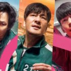 """Lee Jung Jae, Park Hae Soo, And Wi Ha Joon Fight With Their Lives On The Line In Character Posters For """"Squid Game"""""""