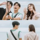 """Jinyoung, Krystal, Yoo Young Jae, And Lee Dal Enjoy A Day At The Beach In """"Police University"""""""