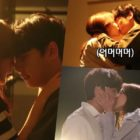 """Watch: Hani And Yoon Shi Yoon Practice Filming Their Steamy Kiss Scenes In """"You Raise Me Up"""""""