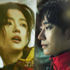 """Jun Ji Hyun And Joo Ji Hoon Put Their Lives On The Line To Rescue Others In New Posters For """"Jirisan"""""""