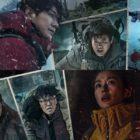 "Jun Ji Hyun, Joo Ji Hoon, Sung Dong Il, Oh Jung Se, And Jo Han Chul Risk The Storm In ""Jirisan"" Group Poster"