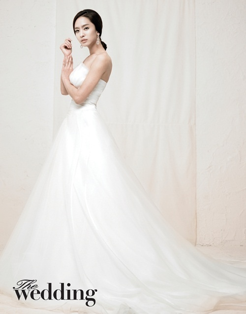 Park Jung Ah Goes Bridal for Wedding Photoshoot