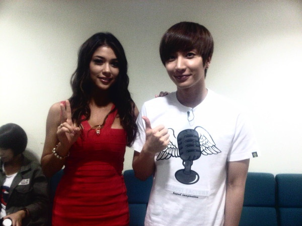 UFC's Chan Sung Jung and Arianny Celeste Pose for Pics Backstage at Star King