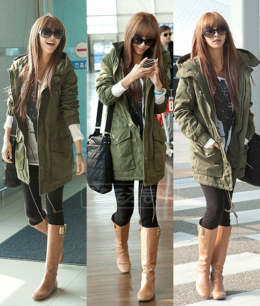 G.NA Looks Flawless Even at the Airport