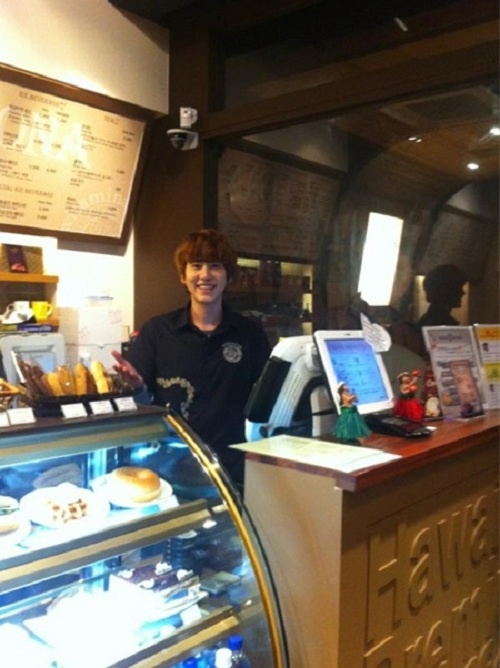 Super Junior's Kyuhyun Serves Coffee for a Day