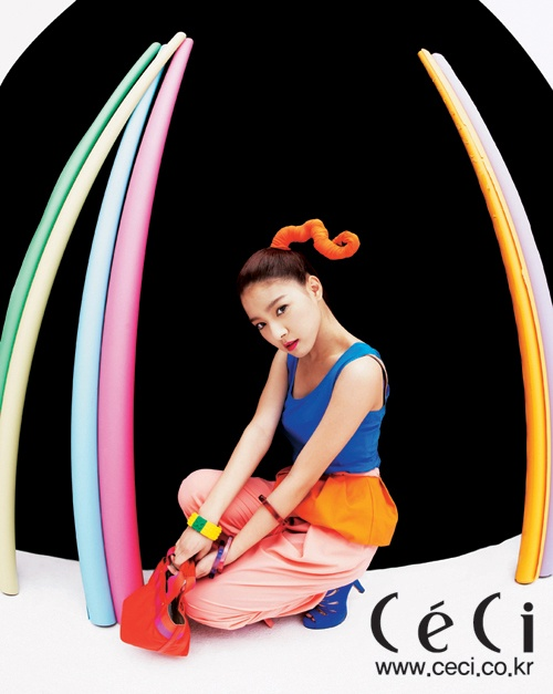 Kim So Eun Glows in Neon for Ceci