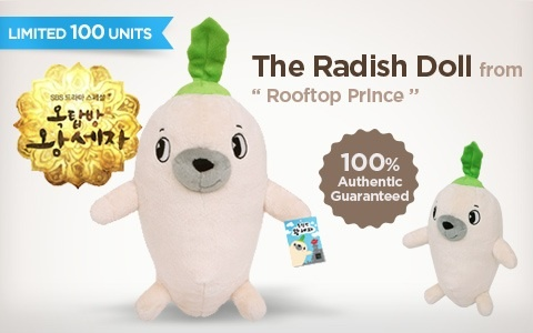 """[Soompi Shop] Announcing the Radish Doll from """"Rooftop Prince!"""""""