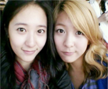 Krystal and Luna Smile for Self-Camera Photos