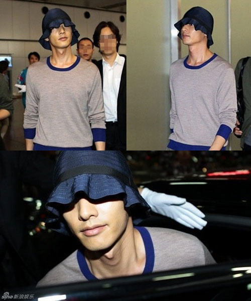 Won Bin's Shocking Airport Fashion