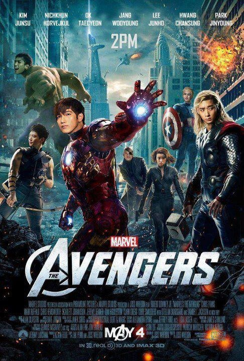 """Taecyeon Turns into Hulk in 2PM's Version of """"The Avengers"""" Poster"""