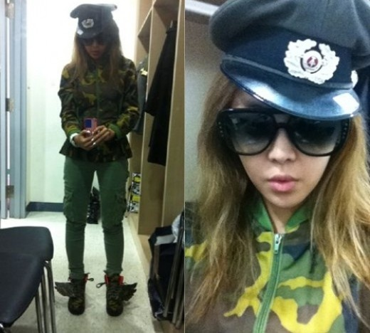 Narsha Dresses Down in a Uniform