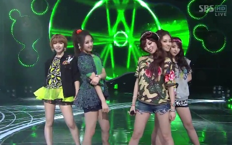 """4Minute Performs """"Volume Up"""" on Inkigayo"""