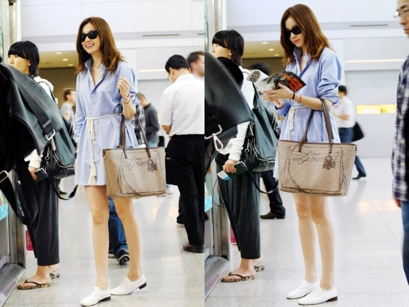 Han Hyo Joo's Airport Fashion
