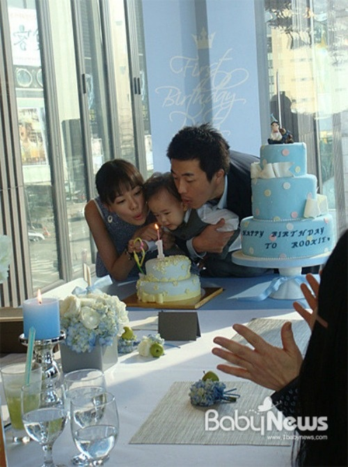 Kwon Sang Woo and Son Tae Young Celebrate Their Son's First Birthday