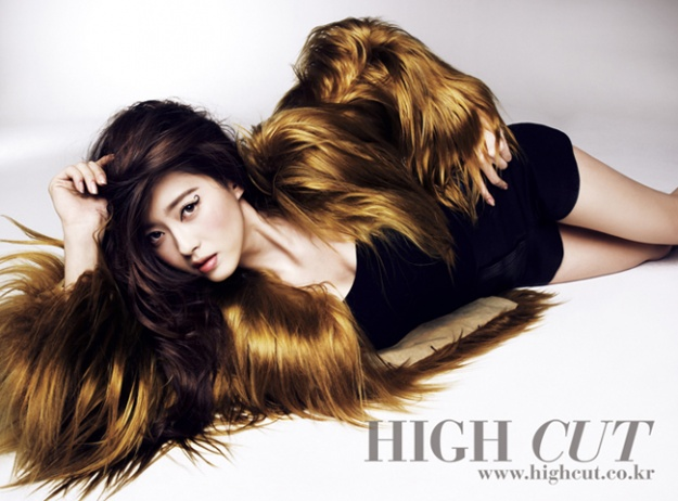 Go Ara Goes Elegant for High Cut Magazine