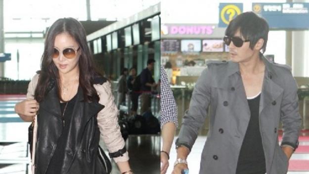Jang Dong Gun and Ko So Young's London-Bound Airport Fashion