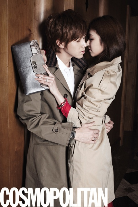 """DBSK's Yunho and Lee Yeon Hee's Romantic Spread for """"COSMOPOLITAN"""""""