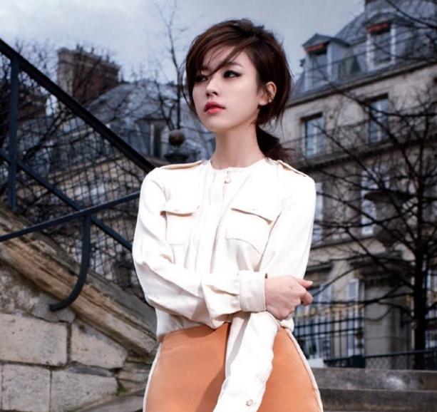 Han Hyo Joo Models Ferragamo for Harper's Bazaar