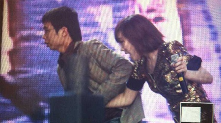 Taeyeon Grabbed by Stranger at Angel Price Music Festival