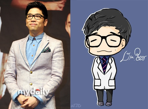 Lee Juk's Caricature Drawing from Fan