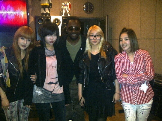 Will.i.am Meets 2NE1 in Korea