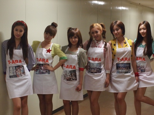 T-ara Produces 200 T-ara Aprons for Japanese Fans