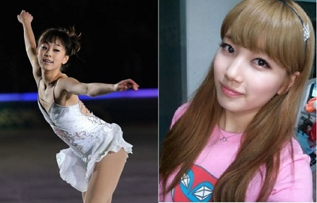 Figure Skater Kwak Min Jung is Jealous of Miss A's Suzy's Looks?