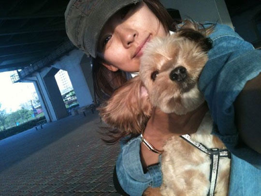Lee Hyori's Lovely Date with Her Dog Soonshim