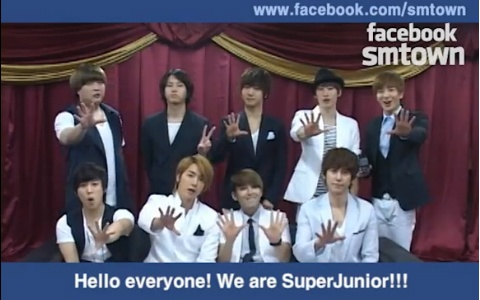 Super Junior and Shinee Promote SM Town Facebook Page