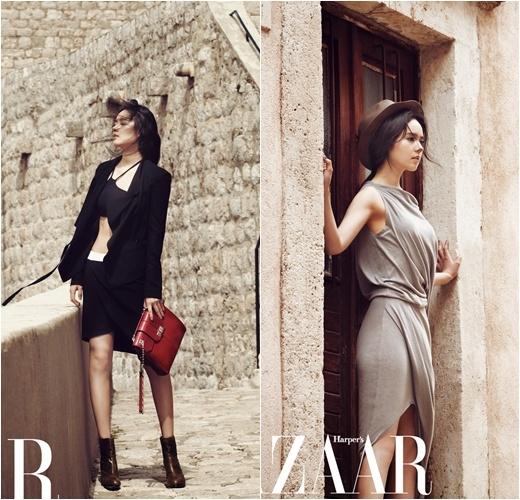 """Han Ga In Is Chic and Sensational for """"Bazaar"""""""
