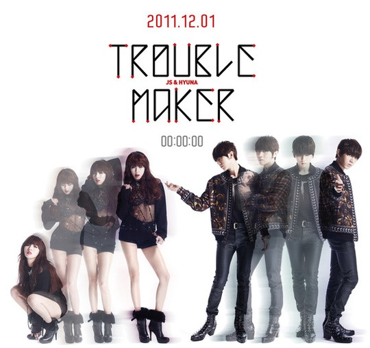 4minute's HyunA and BEAST's Jang Hyun Seung's Project Unit Trouble Maker Releases Teaser Photo