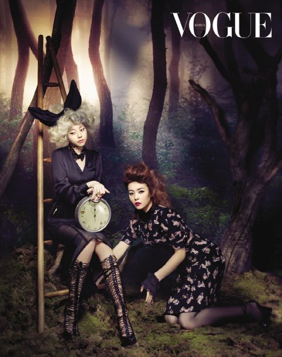 """Wonder Girls as """"Alice in Wonderland"""" Characters for Vogue Magazine"""