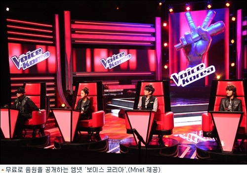 "Mnet ""Voice of Korea"" to Provide Music from Show for Free"