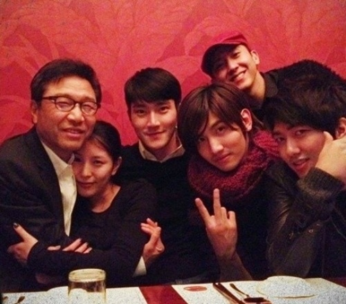BoA, Changmin, Siwon and Brian with the Man Himself