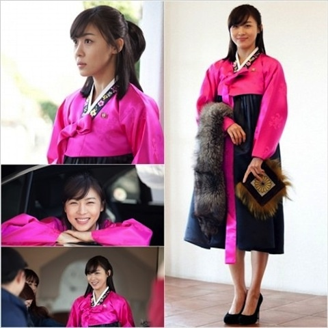 "Ha Ji Won Looks Elegant in Her Pink Han Bok for ""The King 2hearts"""