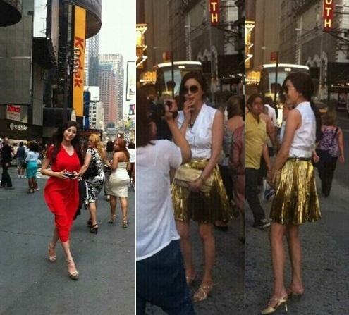 Kim Sarang's Sexy Figure Turns Heads in NYC