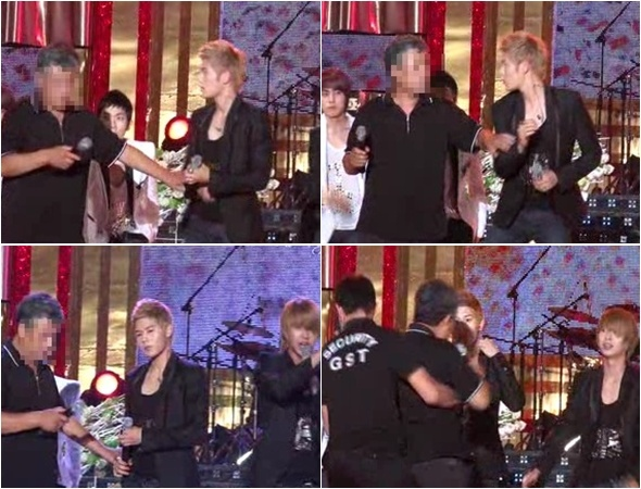 ZE:A Almost Attacked by Drunkard During Live Performance